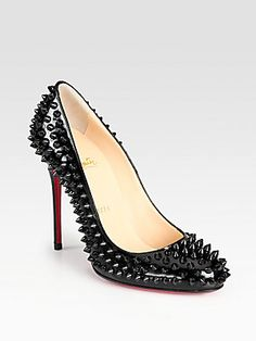 Christian Louboutin Fifi Spiked Patent Leather Pumps for those occasions that may require some a$$ kicking.