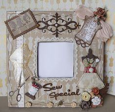 Feel: Malma Sew Special Ikea Mirror, Photo On Wood, Decoupage, Shabby Chic, Felt, Paper Crafts, Sewing, Frame, Cards