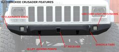 Jeep Cherokee Front Bumper | Crusader | Jeep XJ (84-01) - JcrOffroad