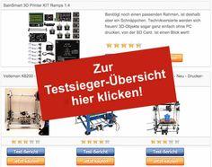 Bester 3D Drucker Bausatz - Testsieger-Vergleich-Tabelle - 3D Drucker selber bauen - http://www.bester-3d-drucker.com