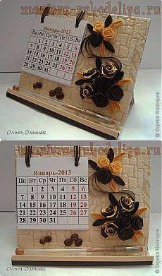Мастер-класс по картонажу: Настольный календарь