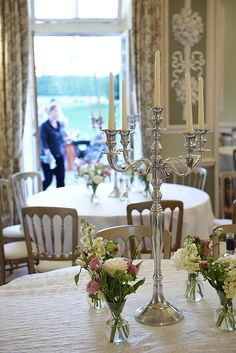 wedding table without chair covers | Bucks Candelabra Hire - London Wedding Occasion Hire