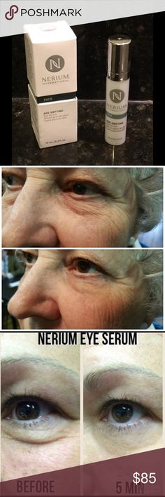 Botanical Anti-aging Eye Serum Nerium offers the best anti-aging Eye Serum. Why you ask? It was developed at Princeton University and Signum Bioscience labs. It is completely botanical, provides immediate results to reduce wrinkles, fine lines, dark circles, puffiness and under-eye bags. Used twice daily it also improves the issues permanently! It lasts all day and never flakes off. Simply the best! Buy one time at $85 or become a Preferred Customer at $65! Nerium Makeup Eye Primer