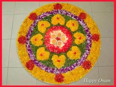 My first post for Onam and this one is on how to make onam pookkalam design on paper, implement it on floor and some design inspirations for home and competitions. Diwali Decorations, Flower Decorations, Onam Pookalam Design, Crafty Angels, Rangoli Kolam Designs, Rangoli Ideas, Onam Celebration, Rangoli Simple, Lord Murugan Wallpapers