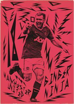 Sucker for Soccer by Zoran Lucić, via Behance Football Stuff, Football Team, History Of Soccer, Manchester United Legends, Soccer Poster, Bt Sport, Poster Series, Soccer Training, Concert Posters