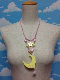 Magical Moon Necklace in Yellow from Angelic Pretty - Lolita Desu