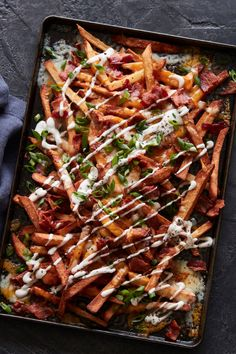 Bacon Cheddar Ranch Fries recipe from @whatsgabycookin