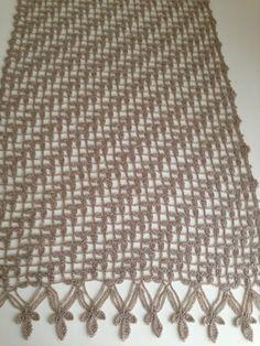 Şal modeli Tunisian Crochet, Crochet Motif, Crochet Shawl, Free Crochet, Crochet Top, Lace Knitting, Knitting Patterns, Crochet Patterns, Ravelry