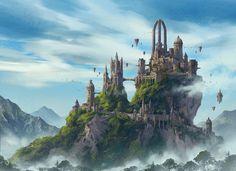 Title: Fantasy Cityscape Artist: Jinho Bae