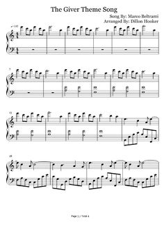Free Rosemary's Song-The Giver Theme Sheet Music Preview 1