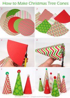 Popper & Mimi Paper Crafts: DIY Christmas Tree Advent Calendar by @Amanda Coleman