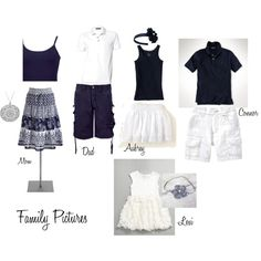 Family beach pictures, created by krista3241220 on Polyvore