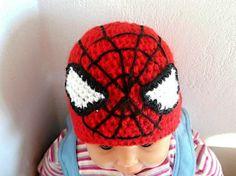 Crochet Spiderman hat, sizes newborn to adult