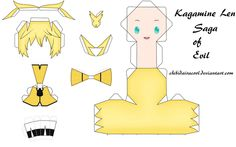 Len Kagamine Papercraft Saga of evil by ~ChibiDairacool on deviantART