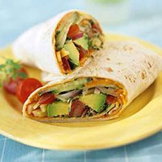 Vegetable Hummus Wrap