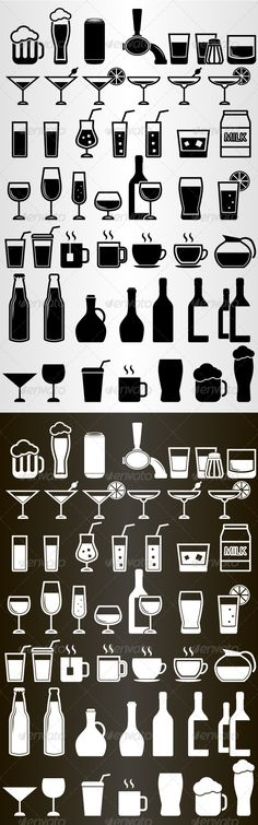 Drink Icons Set — Photoshop PSD #set #beverage • Available here → https://graphicriver.net/item/drink-icons-set/5252714?ref=pxcr