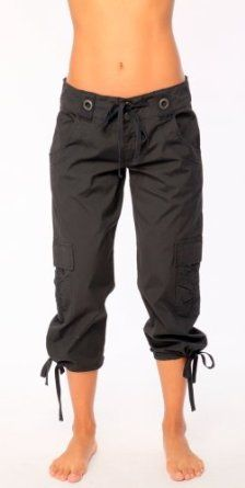 Womens Lately Stretch Cotton Poplin Crop Pants by City Lights in Midnight Black - Small City Lights. $44.95