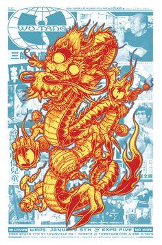 Jeral Tidwell Wu-Tang Clan poster