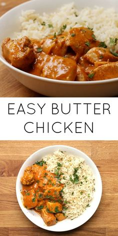 FOOD // Easy Butter Chicken This butter chicken is delicious and it . - FOOD // Easy Butter Chicken This butter chicken is delicious and it also looks amazing. Curry Recipes, Beef Recipes, Cooking Recipes, Healthy Recipes, Rice Recipes, Meatloaf Recipes, Meatball Recipes, Shrimp Recipes, Salmon Recipes