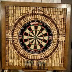 Cork Dartboard, Garage Game Rooms, Woodworking Projects, Diy Projects, Steampunk House, Teen Basement, Basement Ideas, Cork Art, Wine Cork Crafts