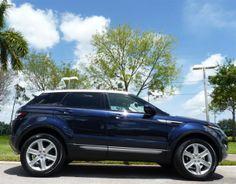 """2014 Land Rover Range Rover Evoque """"Lorie Blue"""" #landroverpalmbeach #landrover"""