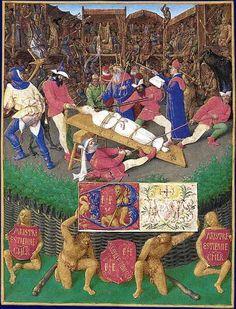 Martyre de Sainte Apolline, Heures d'Etienne Chevalier, Jean Fouquet (XVe siècle) - Musée Condé (Chantilly)