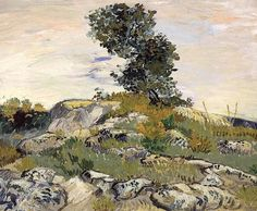 The Rocks 1888 - Vincent Van Gogh