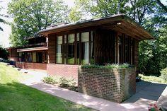 Charles L. Manson House. Usonian Style. Frank Lloyd Wright.1941. Wausau, Wisconsin.
