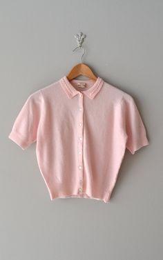 50s cashmere sweater / cashmere 1950s sweater / Sandy cardigan