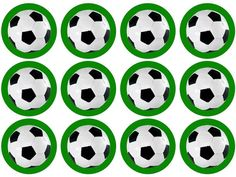 Printed with edible ink on an edible icing sheet    Precut circles, approx 5cm diameter    A wonderful way to add something extra to your football