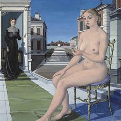 Paul Delvaux - La première rose