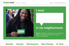 "Neighborland allows people to share their ideas and insights for their city, support their neighbors' ideas, and connect with people who share their interests. Informed by Chang's ""I Wish This Was,"" the Neighborland website was created to provide the people of New Orleans with a platform to identify achievable goals and discuss how to accomplish them."