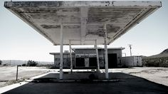 Abandoned gas station in Yermo, CA.