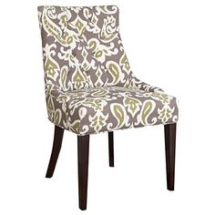 Dining Chair, Grey Paisley at Big Lots.  $65 each  2 for bdrm  put small table and lamp between??