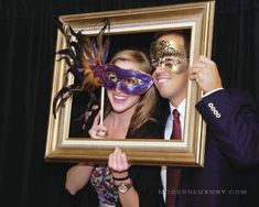 Masquerade or Mardi Gras themed photo booth Masquerade Ball Party, Sweet 16 Masquerade, Masquerade Wedding, Masquerade Theme, 40th Birthday Parties, Anniversary Parties, Mardi Gras Decorations, Masquerade Ball Decorations, Prom Themes