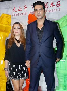 Zayed Khan with wife Malaika Parekh at Krishika Lulla's bash. #Bollywood #Fashion #Style #Beauty #Hot #Handsome #Formals