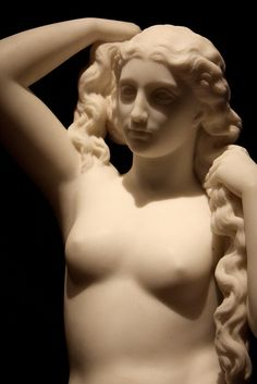 """Venus rising from the water."" Marble by William Wetmore Story (American, 1819-95)"