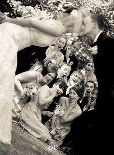 couple and wedding party www.invitationinabottle.com