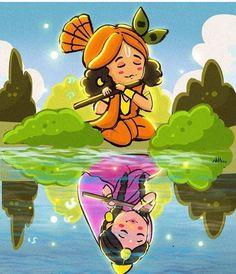 No photo description available. Lord Krishna Images, Radha Krishna Pictures, Radha Krishna Photo, Krishna Photos, Krishna Art, Radha Krishna Paintings, Radhe Krishna, Krishna Tattoo, Krishna Flute