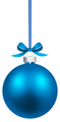 Blue Hanging Christmas Ball PNG Clipart The Best