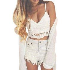 CLEARANCE!! Willtoo Women Crochet Tank Camisole Lace Vest Bra Crop Top