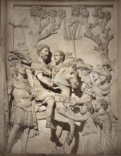 Marcus Aurelius and the barbarians, Capitoline Museums, Rome.