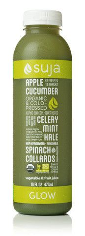 2 apples, 6 celery stalks, ½ a cucumber, a handful of spinach, 3 collard leaves, 3 kale leaves and a sprig of mint