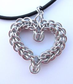 Chain Mail Heart Necklace