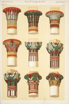 Decorative Arts: The grammar of ornament: [Egyptian ornament. Plates 4, 5, 6, 6*, 7, 8, 9, 10, 11]