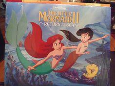 DISNEY Ariel Little Mermaid II Return To The Sea SEALED set 4 Lithograph prints