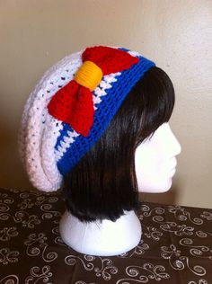 Sailor Moon/Scout Inspired Slouchy Hat by ShopOfManyThings on Etsy, $20.00