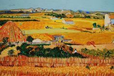 La plaine de Crau (d'après Vincent Van Gogh) de la boutique TableauxFPolisano sur Etsy