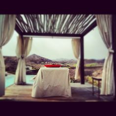 Enjoy a massage outside with magnificent views over the golf courses @ Sheraton Salobre, Gran Canaria