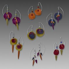 TABAKMAN-POLYMER AND WIRE EARRINGS